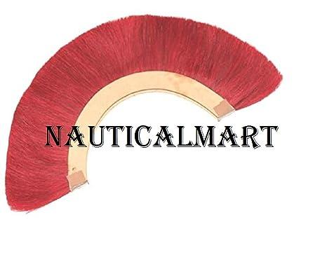RED PLUME RED CREST BRUSH Natural Horse Hair For ROMAN HELMET ARMOR New