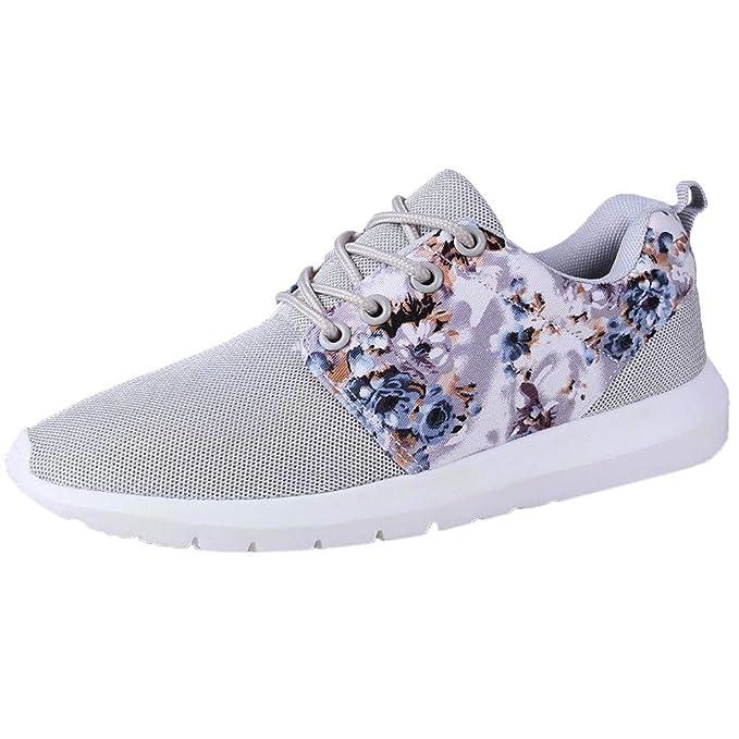 Zapatos de Mujer, ASHOP Zapatillas Deportivas de Running para Mujer Estampado de Flores Transpirable Malla Baja Sneakers de Entrenamiento: Amazon.es: Ropa y ...