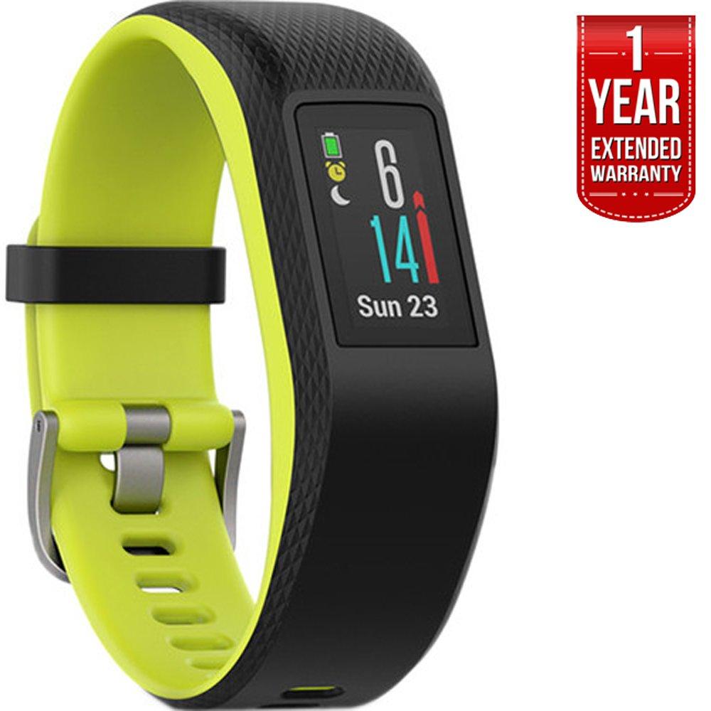Garmin Vivosport Smart Activity Tracker + Built-In GPS (Limelight, L) 010-01789-13 + 1 Year Extended Warranty