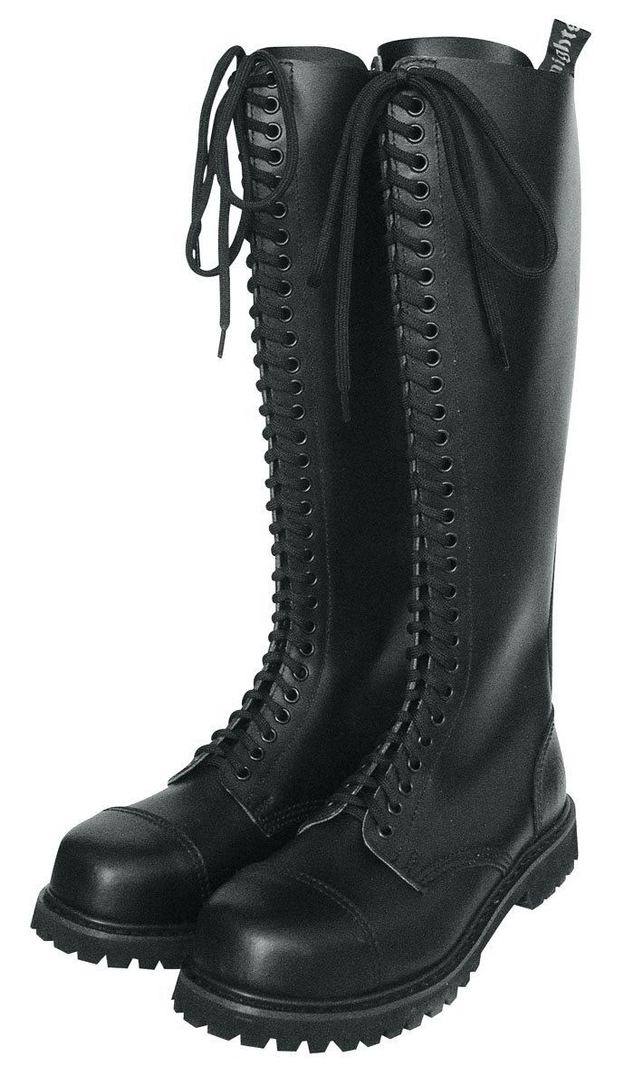 Unbekannt 30 Loch Rangers Stiefel Stiefel Stiefel Stiefel schwarz mit Stahlkappe 78005f