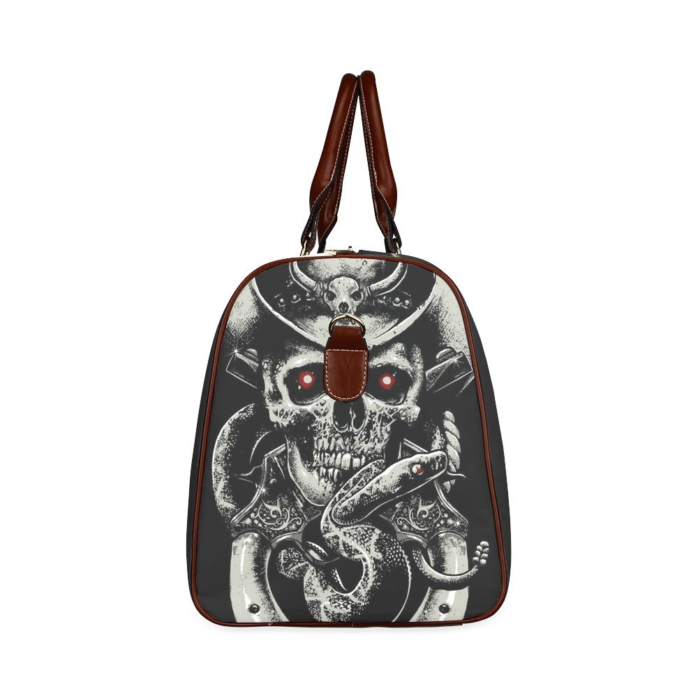 Custom Skull Art Waterproof Travel Tote Bag Duffel Bag Crossbody Luggage handbag