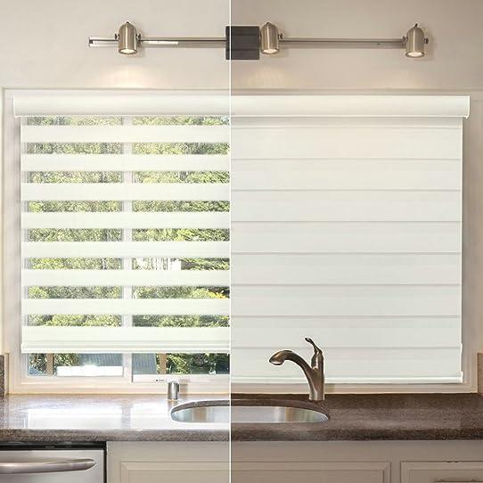window blinds horizontal shade curtains u0026 room darkening treatments u2013 double layer fabric design roller