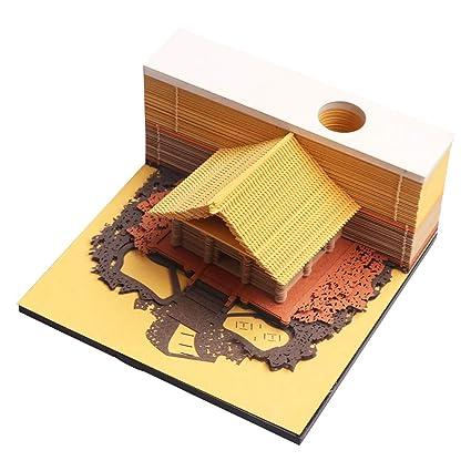 Amazon Com Memo Pads Paper Art Building Block 3d Stick Notes