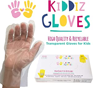 Kiddiz Gloves: Eco-friendly Disposable Gloves for Kids Ages 3 - 8 (100 count)