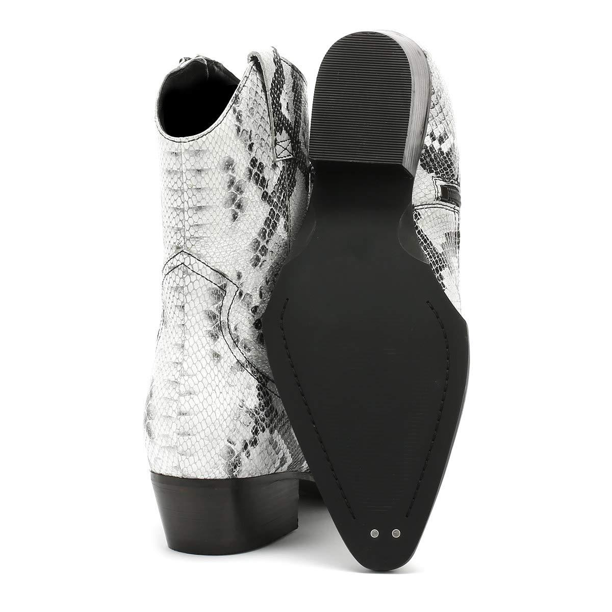 Bronx Jacky Damen Schwarz Weiß Stiefel Stiefel Weiß dabfde