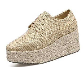 Loafer Wedge Schuhe Heel Strap Platform Casual Schuhe Cross c3R5jL4qA