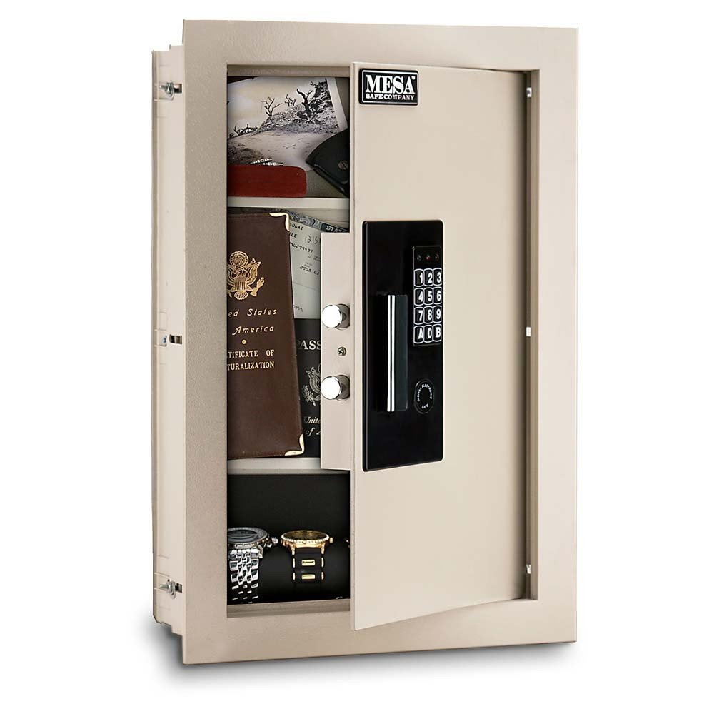 Mesa Safe All Steel Adjustable Wall Safe, 0.3-0.7 Cubic Feet by Mesa Safe Co