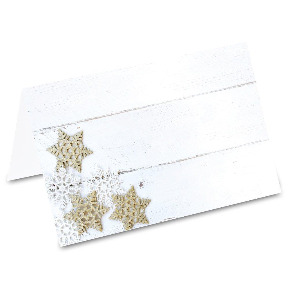 50 St/ück PRICARO Tischkarten Sternenglitzer