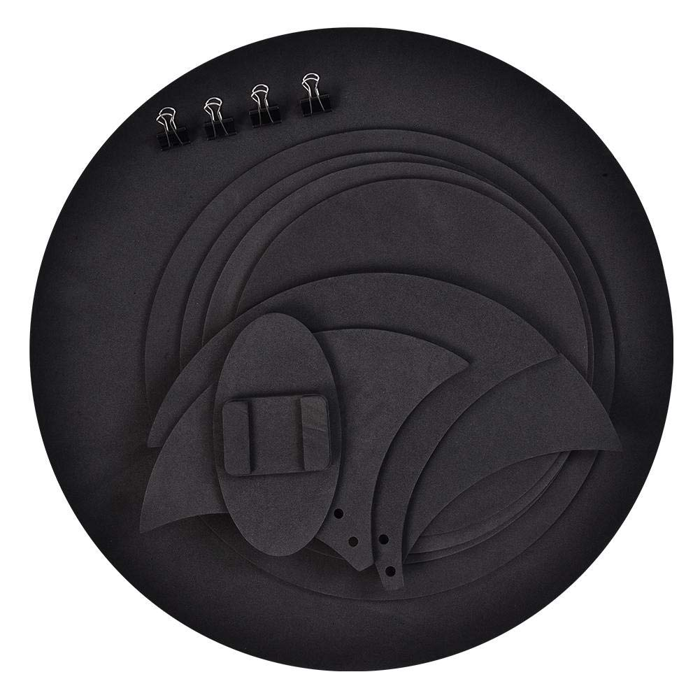 Cocoarm Drum Silencer, 10 Pcs Black Bass Snare Drum Sound off Mutes Silencer Drumming Practice Pad Kit vs1aqod9p5
