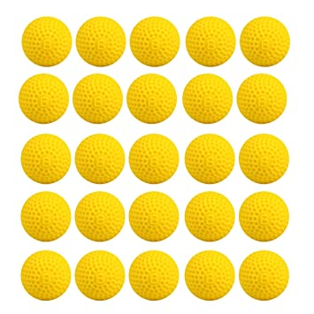 25 Pcs Yellow Nerf Rival Compatible Bullet Balls, Refill Ammo for Nerf Rival