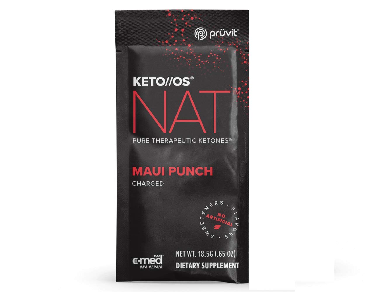Pruvit Keto//OS NAT, Pruvit Keto//OS MAX, Charged, Maui Punch BHB Salts Ketogenic Supplement Ketones for Fat Loss, Workout Energy Boost Through Fast Ketosis (Keto OS NAT Maui Punch, 3 Sachets)