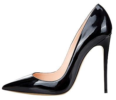 Amazon.com | Guoar Women's Stiletto Big Size Shoes Pointed Toe ...