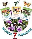 Wildflower Seeds Bulk + 7 BONUS Gardening eBooks + 100,000 Open-Pollinated Wildflower Seeds, 1oz Packets, Non-GMO, No Fillers, Annual, Perennial Wildflower Seeds Year Round Planting, Bees Pollinators