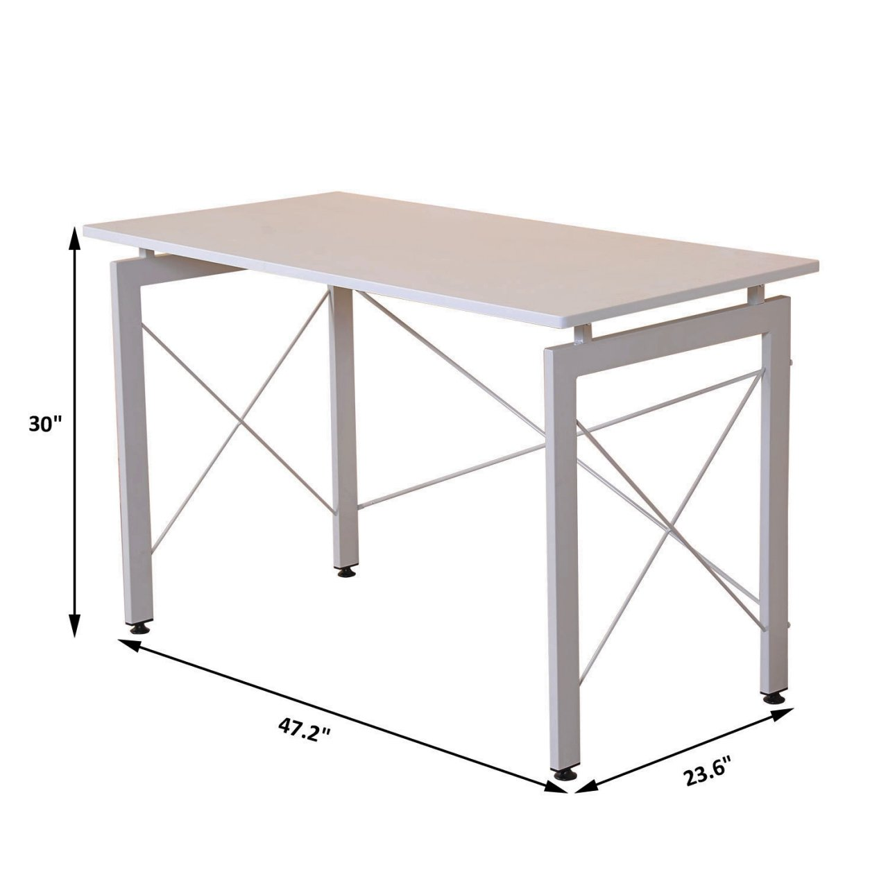 Laptop Computer Wooden Desk Study Writing Table Workstation Home Office Decor Furniture/ White #1036c by Koonlert@shop