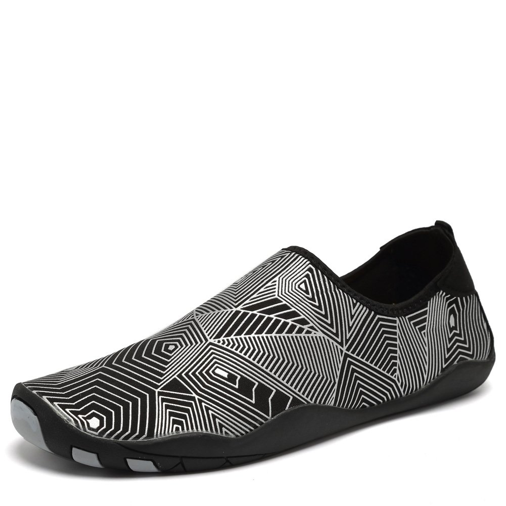 CIOR Water Shoes Men Women Aqua Shoes Barefoot Quick-Dry Swim Shoes with 14 Drainage Holes for Boating Walking Driving Lake Beach Garden Park Yoga,SYY04,Silver,46