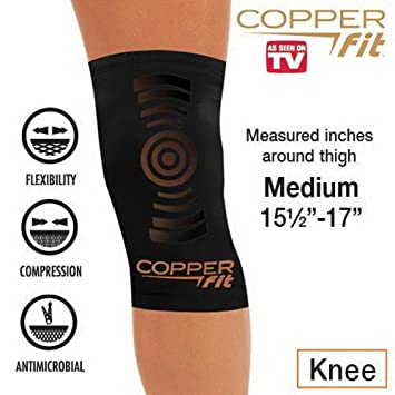 983bf20f81 Image Unavailable. Image not available for. Color: Copper Fit Copper  Infused Knee Compression Sleeve As Seen on TV Brace Joint Pain ...