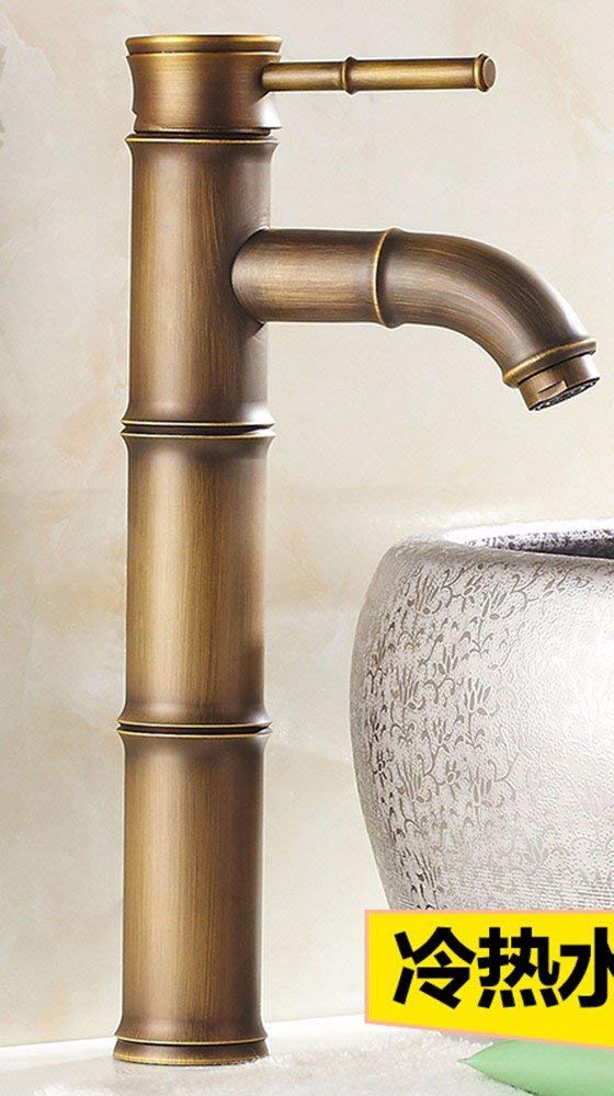 11 Oudan Basin Mixer Tap Bathroom Sink Faucet European retro style, copper basin, Single Hole, single cold water faucet 16 (color   7)