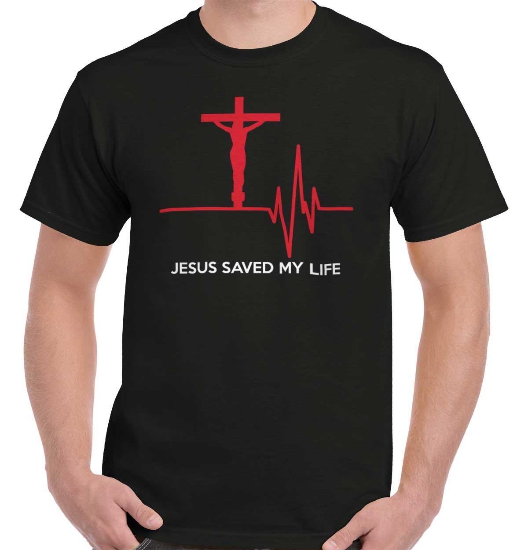 Jesus Saved My Life Christian Shirt Cool Religious Gift Idea T-Shirt Tee