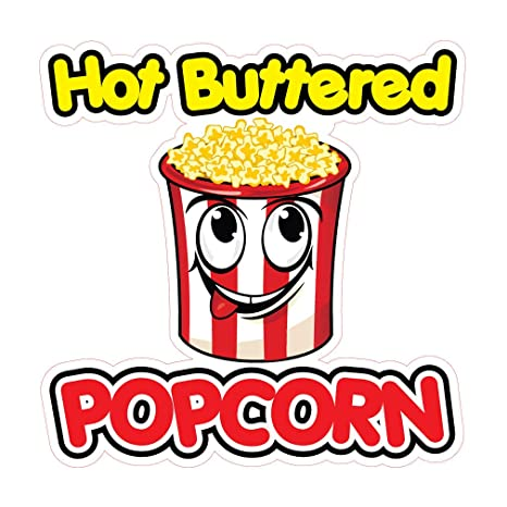 photograph regarding Popcorn Sign Printable identified as : Die-Slice Sticker Numerous Measurements Incredibly hot Buttered