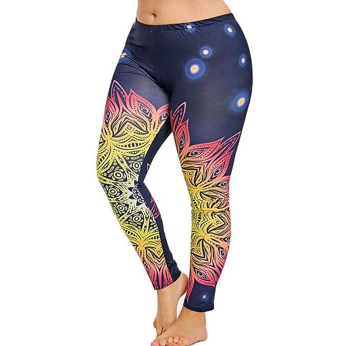 MOVERV Mujer Fitness Deportes Tallas Grandes Pantalones de ...