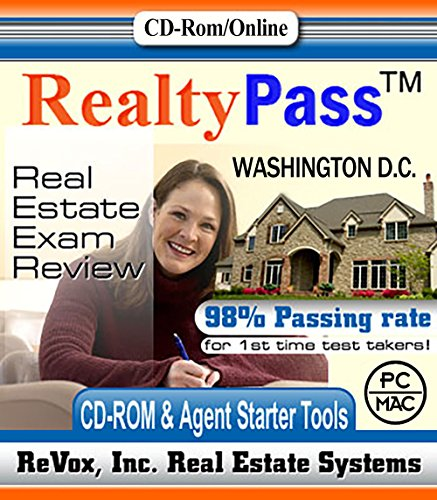 2018 Washington D.C. VUE Realty Pass Real Estate Exam Prep Study Guide Questions and Answers Interactive Software