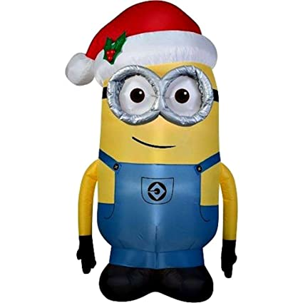 minion dave christmas inflatable 5 foot by gemmy by gemmy industries - Minion Christmas Inflatable