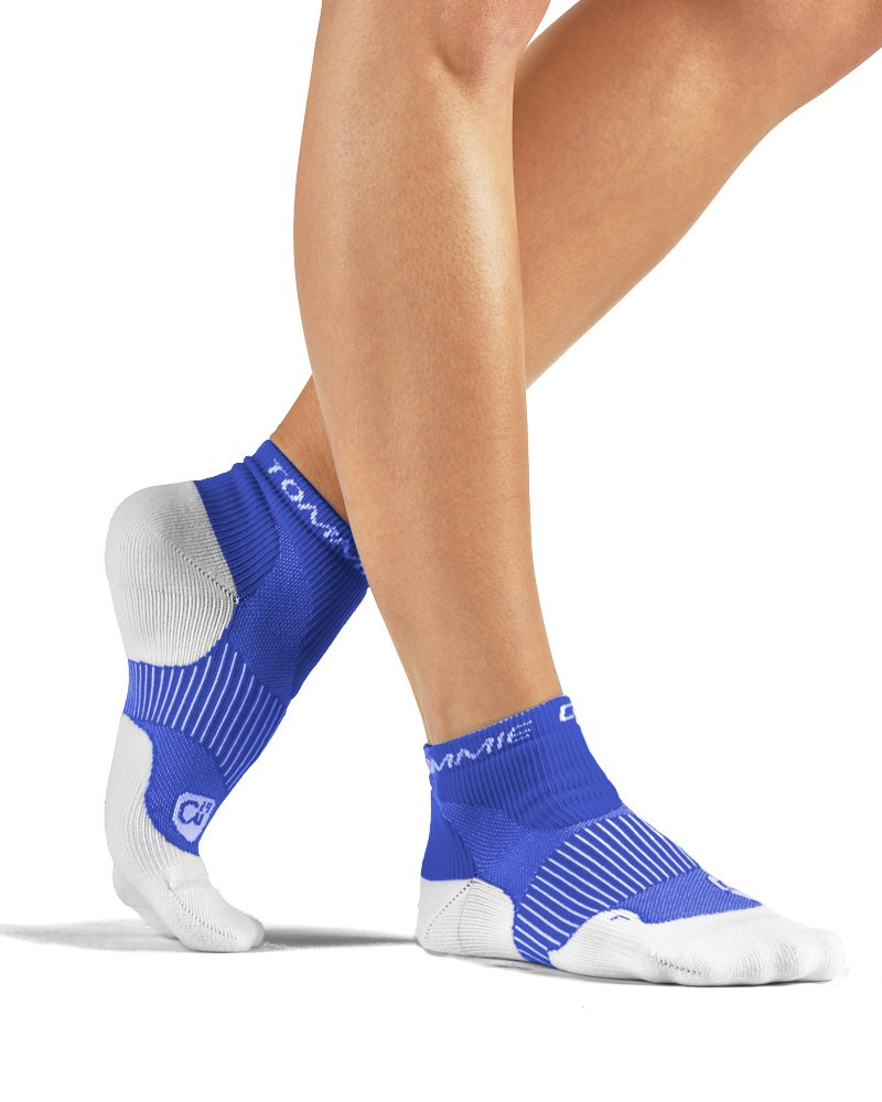 Tommie Copper Women's Performance Compression Ankle Socks, Cobalt Blue, 4-6.5
