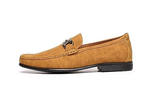 Hombre Sin Cierres Moda Estilo Informal Mocasines Zapatos De Conducción con Tacón Diseñador Mocasin Estilo Nuevo Tallas GB: Amazon.es: Zapatos y ...