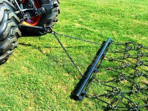 6' x 5' 6'' Pasture Drag Chain Harrow - 1/2'' Dia - Overall 8-1/2 Ft. Long by Neat Attachments