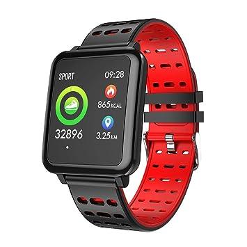 Pulsera Actividad para Hombre Mujer,Pulsera Reloj Inteligente con Pulsómetro Impermeable Podómetro Monitor de Ritmo
