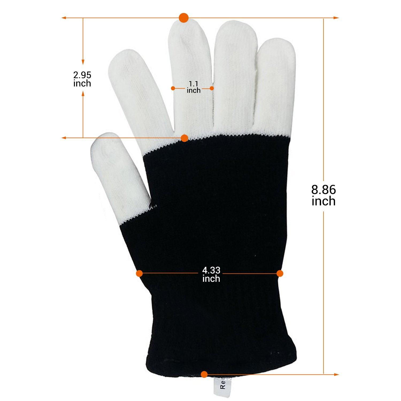 Yostyle LED Finger Light Up Gloves,3 Colors 6 Modes Flashing LED Warm Gloves Colorful Glow Flashing Novelty Toys for Halloween (2 Pairs)