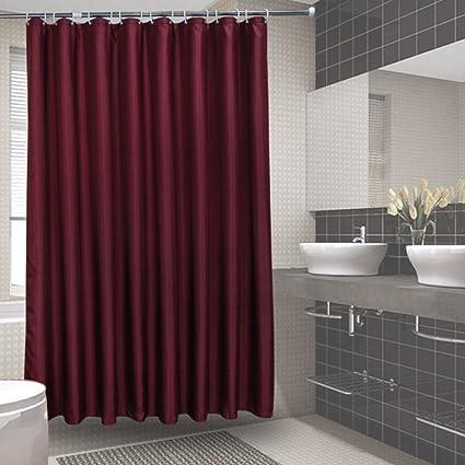 Amazon Waterproof Polyester Fabric Shower CurtainMildew