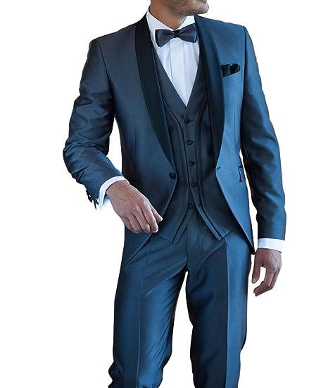 Suit Me 3-piezas de trajes de fiesta de la boda del smoking traje ...