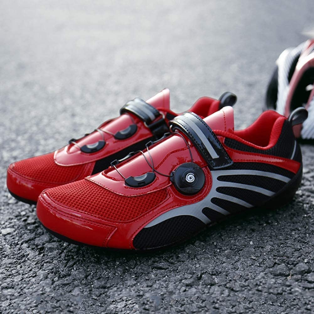 Lock Soles Mens Shoes Cycling Shoes Wear-Resistant Bicycle Spin Button Shoes
