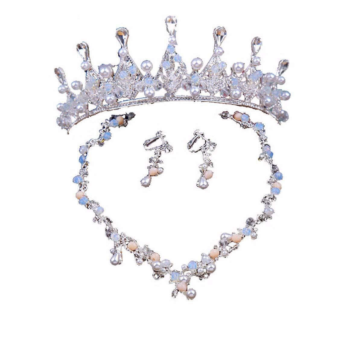 Wedding Crown, Beautiful headdress/Bridal Crown Luxurious Crystal Pearl Crown Wedding Headwear Super Fairy White Wedding Accessories. by Junson (Image #1)
