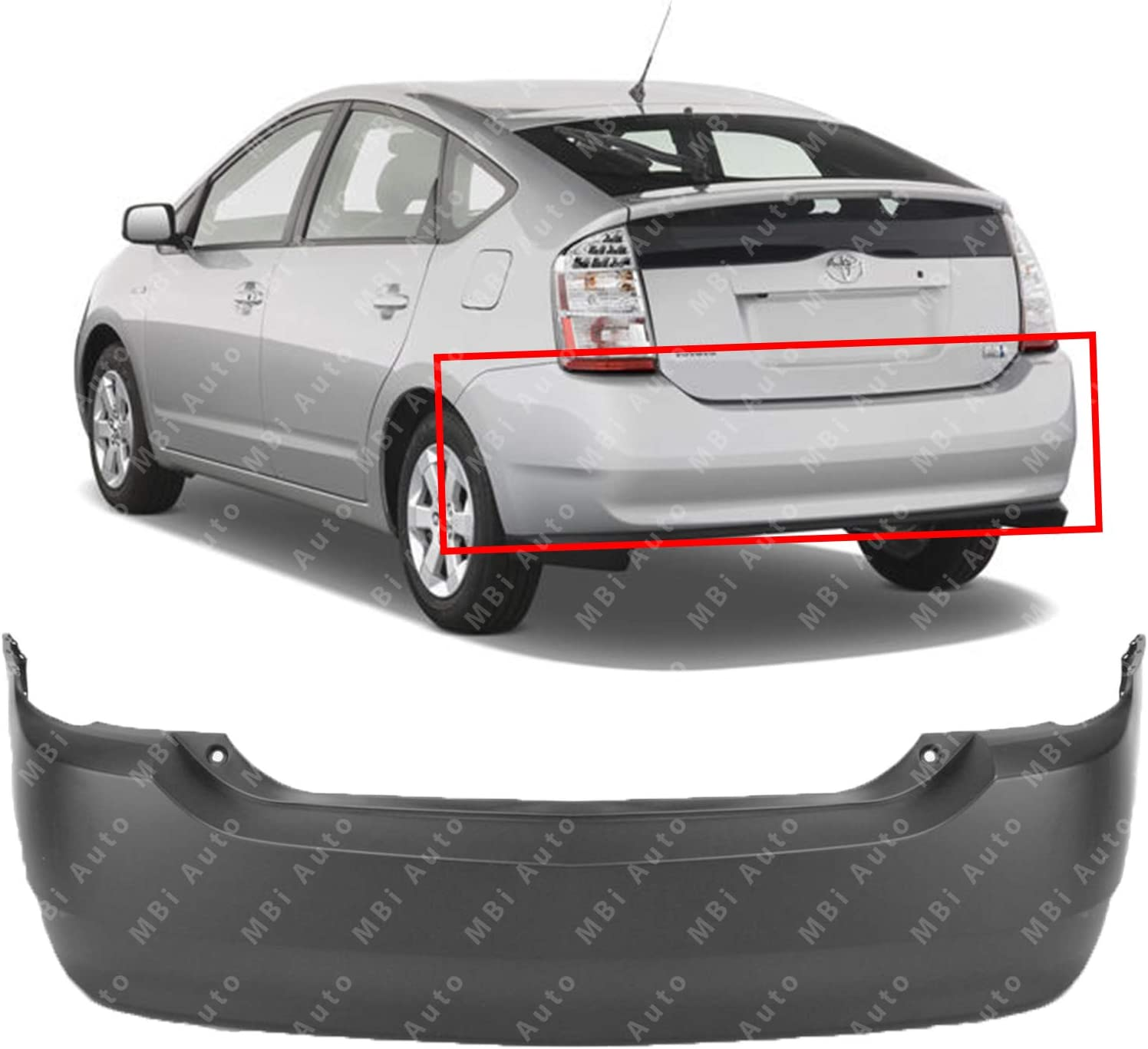 NEW REAR BUMPER COVER PRIMED FITS 2010-2015 TOYOTA PRIUS TO1100280