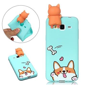 coque samsung j3 2016 chien silicone 3d