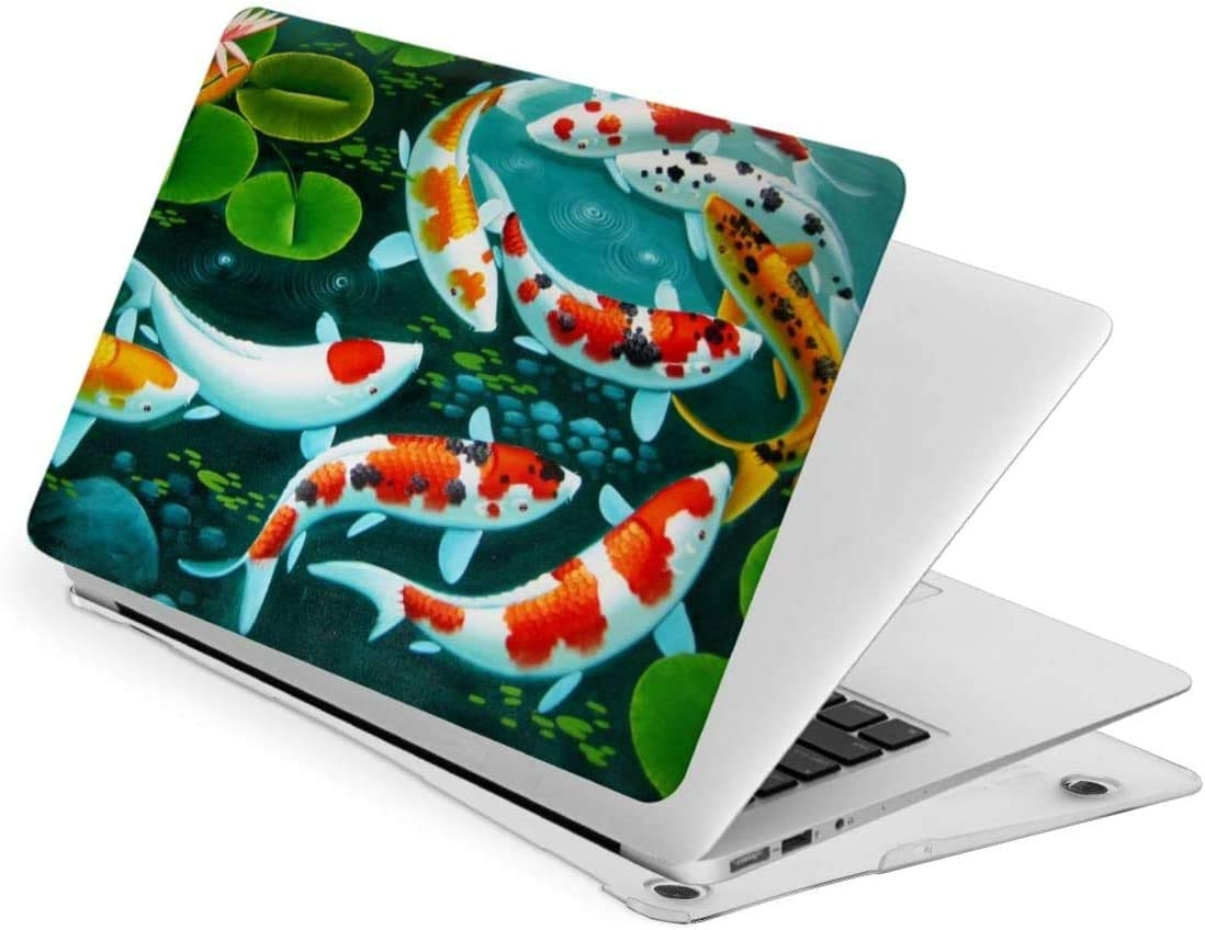 Lotus and Goldfish Laptop Case Cartoon Background for MacBook Plastic Hard Shell Case Cover for MacBook-New air13