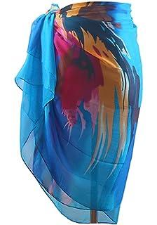 e000cb7c89 MissShorthair Womens Chiffon Swimwear Plus Size Bathing Suit Cover Ups  Beach Sarong Wrap