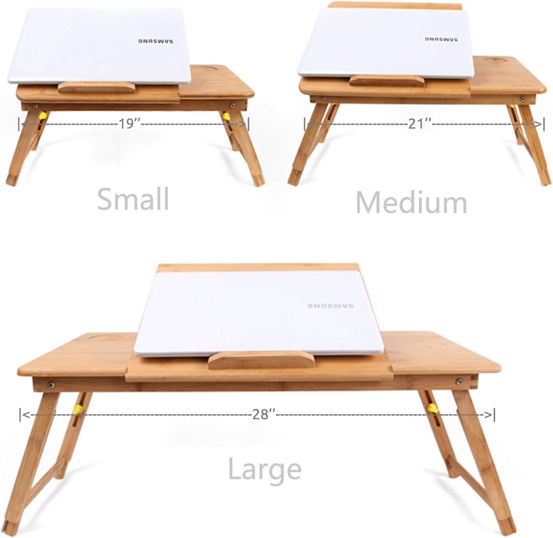 Horsebiz Bureau pliable en bambou /écologique pour ordinateur portable