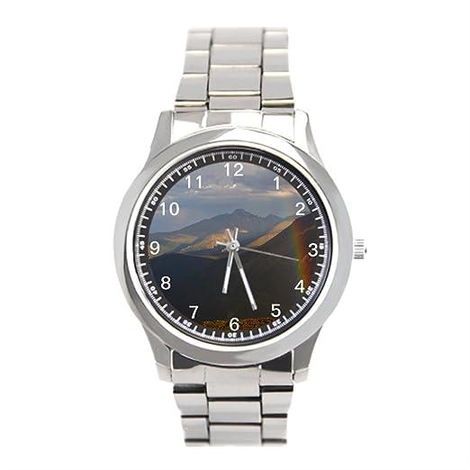 fatbeauty relojes al aire libre montaña de acero inoxidable reloj de pulsera: Amazon.es: Relojes