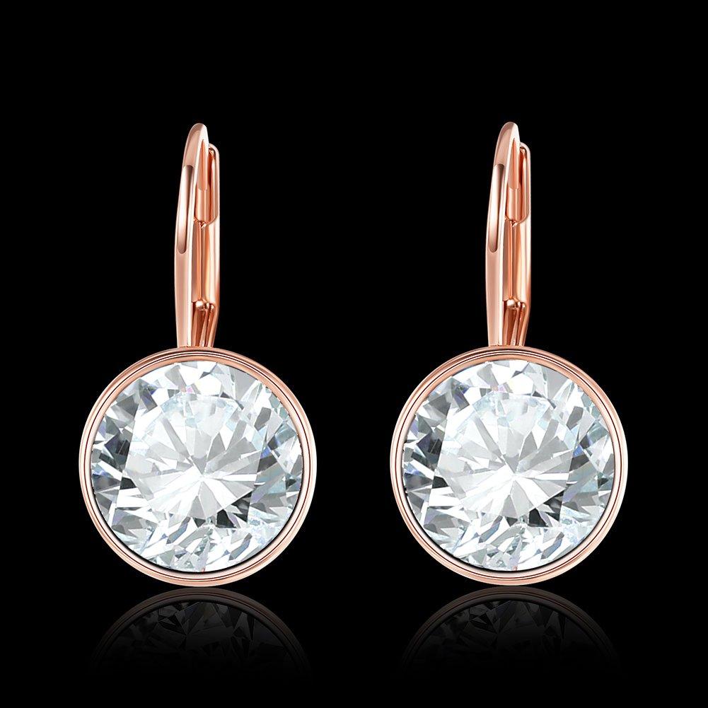 LEKANI Ms Earrings Crystal Gem Personalized Charm 2018 New Earrings LKN18KRGPE748