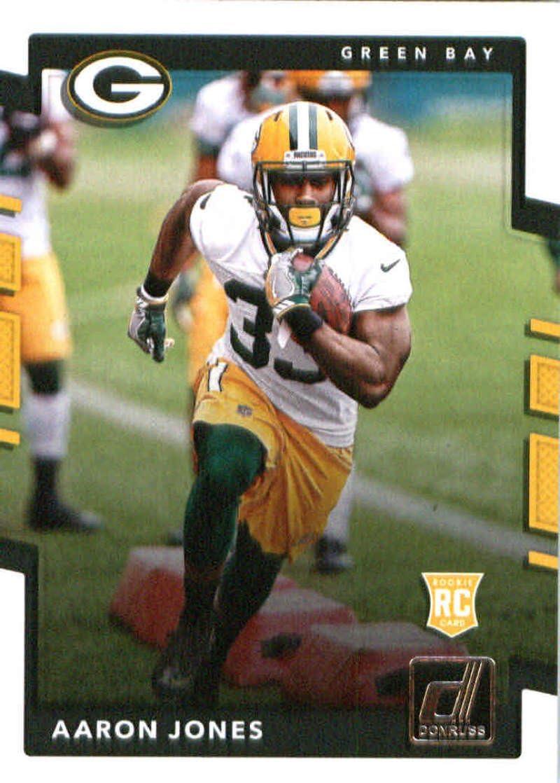 Amazon Com 2017 Donruss 385 Aaron Jones Green Bay Packers Rookie Football Card Collectibles Fine Art