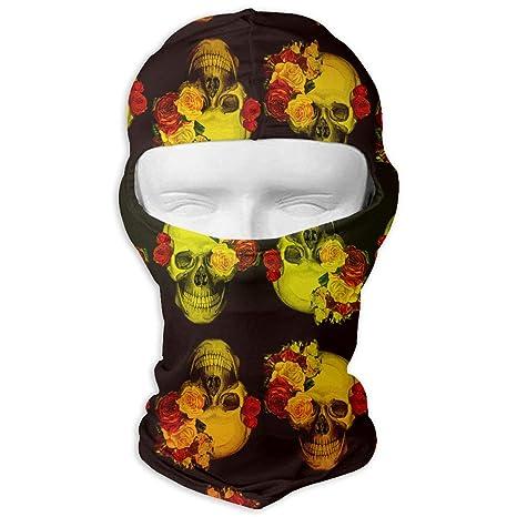 Halloween Masker.Amazon Com Skull With Flower Masker Balaclava Ski Mask Neck