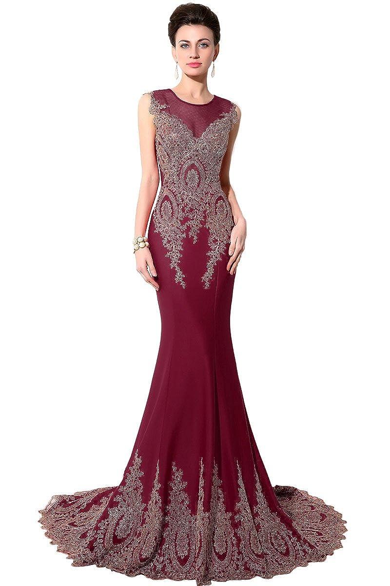 028burgundy Sarahbridal Women's Mermaid Evening Ball Dress 2019 Formal Long Prom Gowns