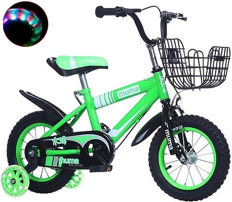 Dsrgwe Bicicleta niño, Bicicleta Niños, Entrenamiento Vespa Bicicletas de niño de la Muchacha de 2-10 años, Bicicletas for niños, con Flash Ruedas y estabilizadores, el 95% montado: Amazon.es: Deportes y aire libre