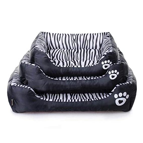 Amazon.com : Vivian Inc Beds & Furniture - New Dog Bed Waterproof Zebra Pattern Pet House Kennel Moistureproof Keep Clean Puppy Dogs Beds for Small Larger ...