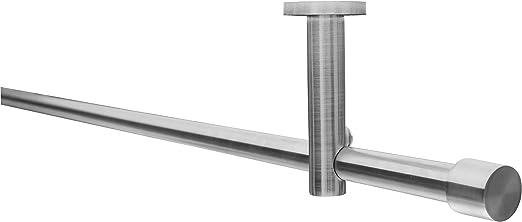 auch mit Deckenbefestigung Gardinenstange 16 mm Ø in Schwarz//Edelstahl Optik,