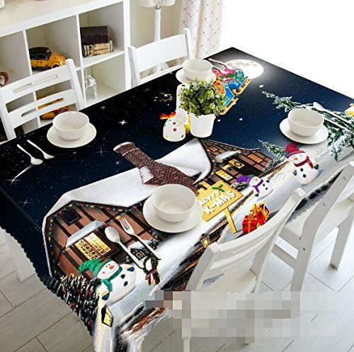 Casas de invierno 3d nieve 7883 mantel funda para mesa ...