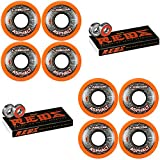 Labeda Asphalt Inline Roller Hockey Wheels 59mm Orange 85A 8-Pack Bones Reds